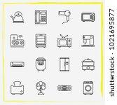 home appliances line icon set... | Shutterstock .eps vector #1021695877