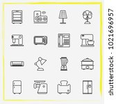 home appliances line icon set... | Shutterstock .eps vector #1021696957