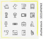 home appliances line icon set...   Shutterstock .eps vector #1021696963