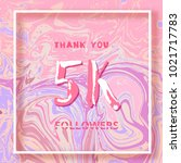 5k followers thank you square... | Shutterstock .eps vector #1021717783