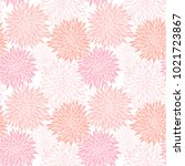 white and pink floral seamless... | Shutterstock .eps vector #1021723867