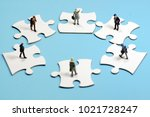 puzzle  cooperation image   Shutterstock . vector #1021728247