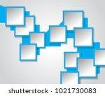 abstract 3d geometrical design | Shutterstock .eps vector #1021730083