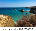 algarve coast in portugal | Shutterstock . vector #1021736053
