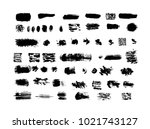 large collection of grunge... | Shutterstock .eps vector #1021743127