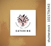 vector catering and restaurant...   Shutterstock .eps vector #1021756543