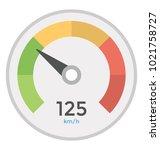 speedometer vector icon in... | Shutterstock .eps vector #1021758727