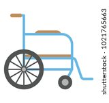 wheelchair vector icon in flat ...   Shutterstock .eps vector #1021765663