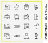 home appliances line icon set...   Shutterstock .eps vector #1021782367
