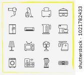 home appliances line icon set...   Shutterstock .eps vector #1021782433