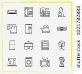 home appliances line icon set...   Shutterstock .eps vector #1021782883