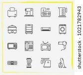 home appliances line icon set...   Shutterstock .eps vector #1021782943