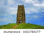 glastonbury  somerset  england. ... | Shutterstock . vector #1021783177