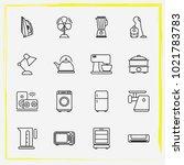 home appliances line icon set...   Shutterstock .eps vector #1021783783
