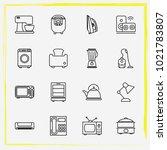 home appliances line icon set...   Shutterstock .eps vector #1021783807