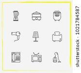 home appliances line icon set...   Shutterstock .eps vector #1021784587