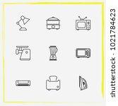 home appliances line icon set...   Shutterstock .eps vector #1021784623