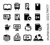 books icons set elegant series | Shutterstock .eps vector #102179977