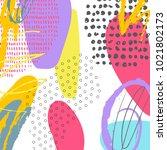 creative doodle art header with ...   Shutterstock .eps vector #1021802173