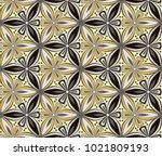 graphic flower arabesque... | Shutterstock .eps vector #1021809193