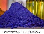 close up of a ultramarine blue...   Shutterstock . vector #1021810237