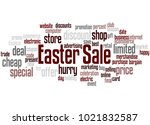 easter sale word cloud concept... | Shutterstock . vector #1021832587