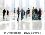 abstract image of people in the ... | Shutterstock . vector #1021834987