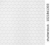 white hexagonal tile. 3d... | Shutterstock . vector #1021861303