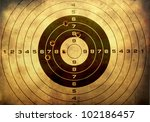 target with bullet holes over... | Shutterstock . vector #102186457