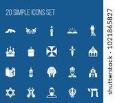 set of 20 editable faith icons. ...
