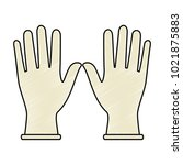 surgical gloves isolated icon | Shutterstock .eps vector #1021875883