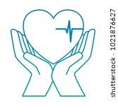 hands with heart cardio... | Shutterstock .eps vector #1021876627
