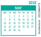 may. fifth page of set.... | Shutterstock .eps vector #1021886473