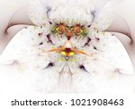 colorful fractal butterfly.... | Shutterstock . vector #1021908463