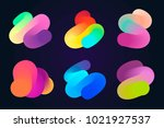 set of design elements with... | Shutterstock .eps vector #1021927537
