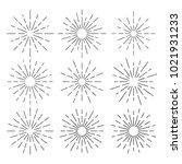 vintage sunburst design vector... | Shutterstock .eps vector #1021931233