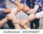 close up hand of business... | Shutterstock . vector #1021936657