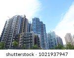 tseung kwan o new town  hong... | Shutterstock . vector #1021937947