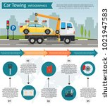 tow truck city road assistance... | Shutterstock .eps vector #1021947583