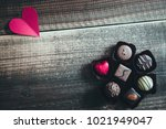 valentine's day chocolate | Shutterstock . vector #1021949047