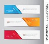 banner background. modern... | Shutterstock .eps vector #1021979587