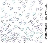 hand drawn hearts. background.  ... | Shutterstock .eps vector #1021993633