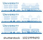 outline set of university study ... | Shutterstock .eps vector #1021999693