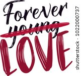forever young love | Shutterstock .eps vector #1022000737