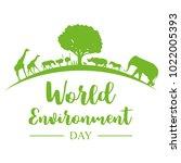 world environment day banner ... | Shutterstock .eps vector #1022005393