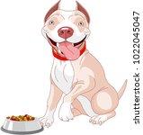 illustration of cute pit bull... | Shutterstock .eps vector #1022045047
