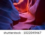 famous antelope canyon near... | Shutterstock . vector #1022045467