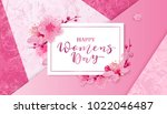 happy women's day. 8 march... | Shutterstock .eps vector #1022046487
