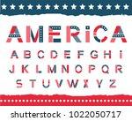 america alphabet set. letters... | Shutterstock .eps vector #1022050717