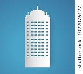 tower vector designed in paper... | Shutterstock .eps vector #1022076127